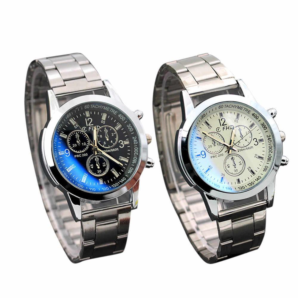 Relogio Masculino 2017 Horloge Mannen Super Kwaliteit Roestvrij Staal Sport Quartz Uur Analoog Horloge Klok Mannen Erkek Kol Saati
