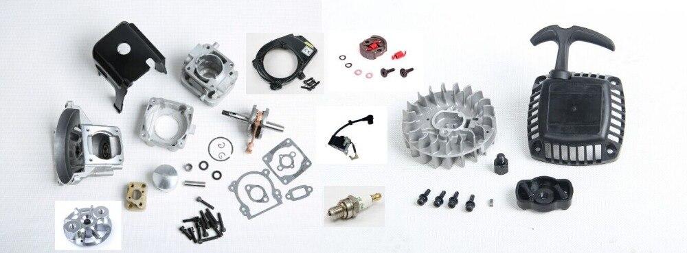 Grand kit de cylindre de mise à niveau 32cc pour moteur Zenoah CY ROVAN KM pour voiture de course 1:5 HPI