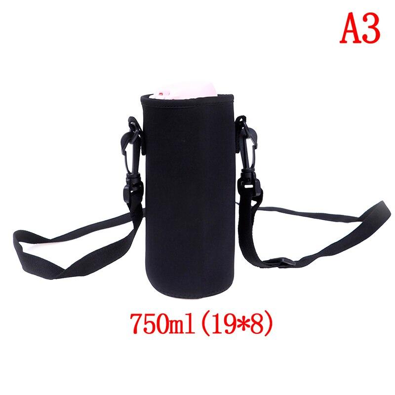 420-1500 мл оболочка для бутылки сумка ж/неопреновый ремень сумка для воды держатель плечевой ремень черная бутылка сумка - Цвет: A3