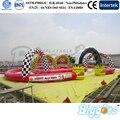 Inflável Biggors Inflável Engraçado Karting Carro Trilha Trilha de Ar Inflável para a Venda do Transporte por Mar