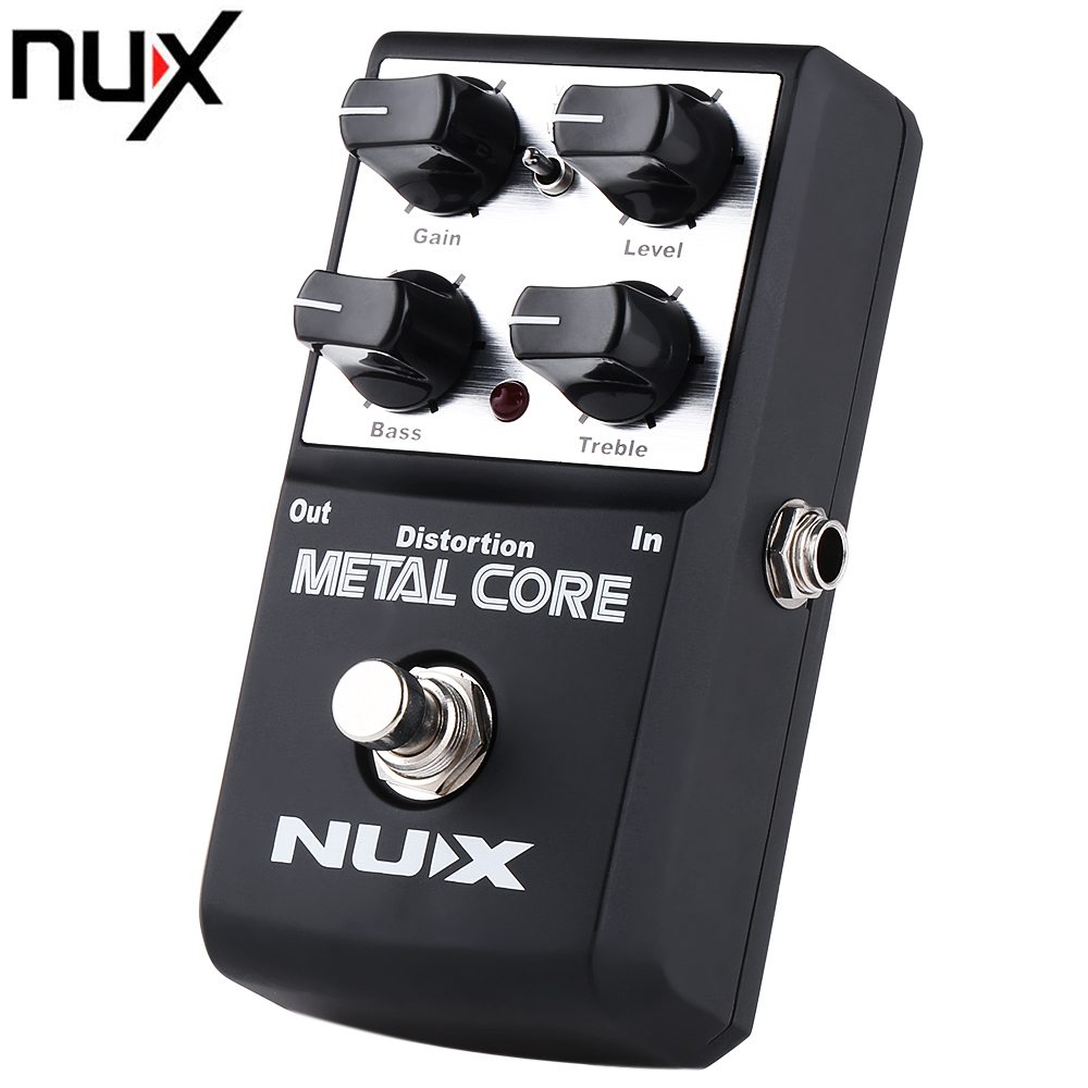 NUX Metal Core Distortion Guitar Effect Pedal True Bypass Design mooer ensemble queen bass chorus effect pedal mini guitar effects true bypass with free connector and footswitch topper