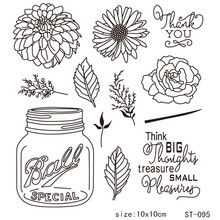 ZhuoAng big sale. Creative Plant Transparent and Clear Stamp DIY Scrapbooking Album Card Making Decoration