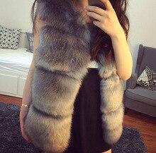Женщины искусственный мех жилет поддельные кролик куртка мех жилет верхняя одежда короткая зима тёплый пальто искусственный мех жилет