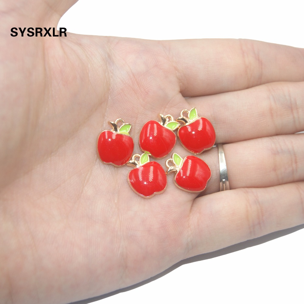 New 10 Pcs Cherry Pendant Charm DIY Necklace Bracelet Earrings Accessory For Jewelry Making Wedding Birtday Party Decor Gift in Beads from Jewelry Accessories