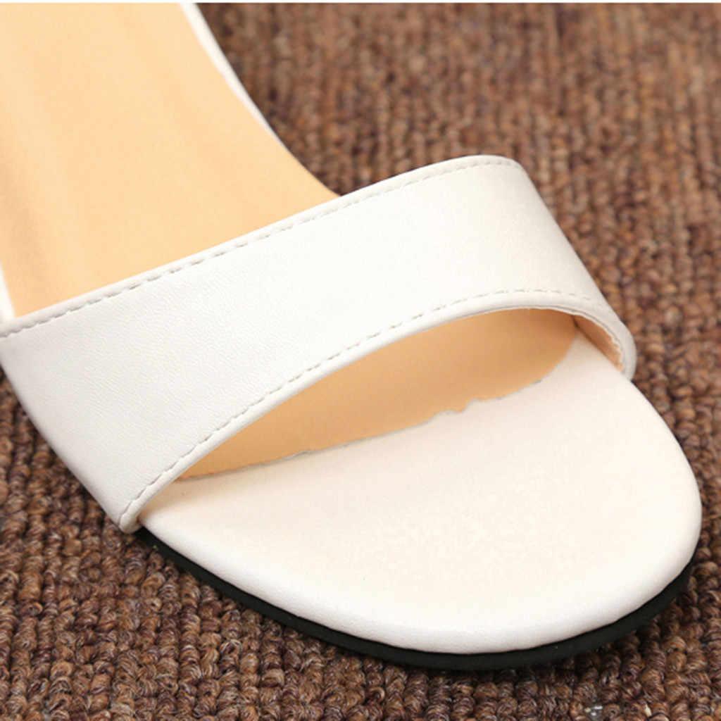 SAGACE Summer Sandals Women Solid Buckle Strap Elegant  Roman Women Summer Casual Shoes For Female  Ladies Shoes Sandals Women