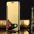 Aleta de luxo espelho case para iphone 5 5s se fundas capa coque plástico rígido tampa do telefone de volta