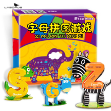Lagopus Baby 3D Alphabet Animal Puzzle Toys Education Learning Tools Toy for Kids Magic Intellect Game New