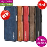 Funda para Samsung A70 A50 A40 S10 S10e Note 8 S9 S8 Plus lujosa Funda de cuero cubierta trasera de la tarjeta de la carpeta del libro