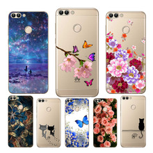 Goterfly For Huawei P Smart Cover FIG-LX1 Enjoy 7S Case soft silicon TPU huawei bag cute printing phone shell PSmart