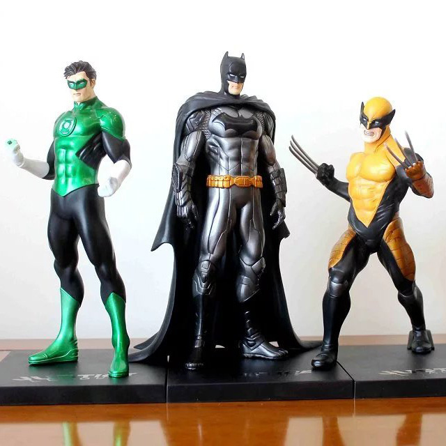 NEW hot 18cm Super hero Justice league wolverine Green lantern batman Action figure toys <font><b>doll</b></font> collection Christmas gift