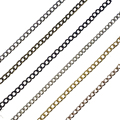 6 colors 5 Meters width:2MM Iron Tassel Chains Extended Chains Diy Jewelry Findings Gold,Silver,rhodium,black,rose gold