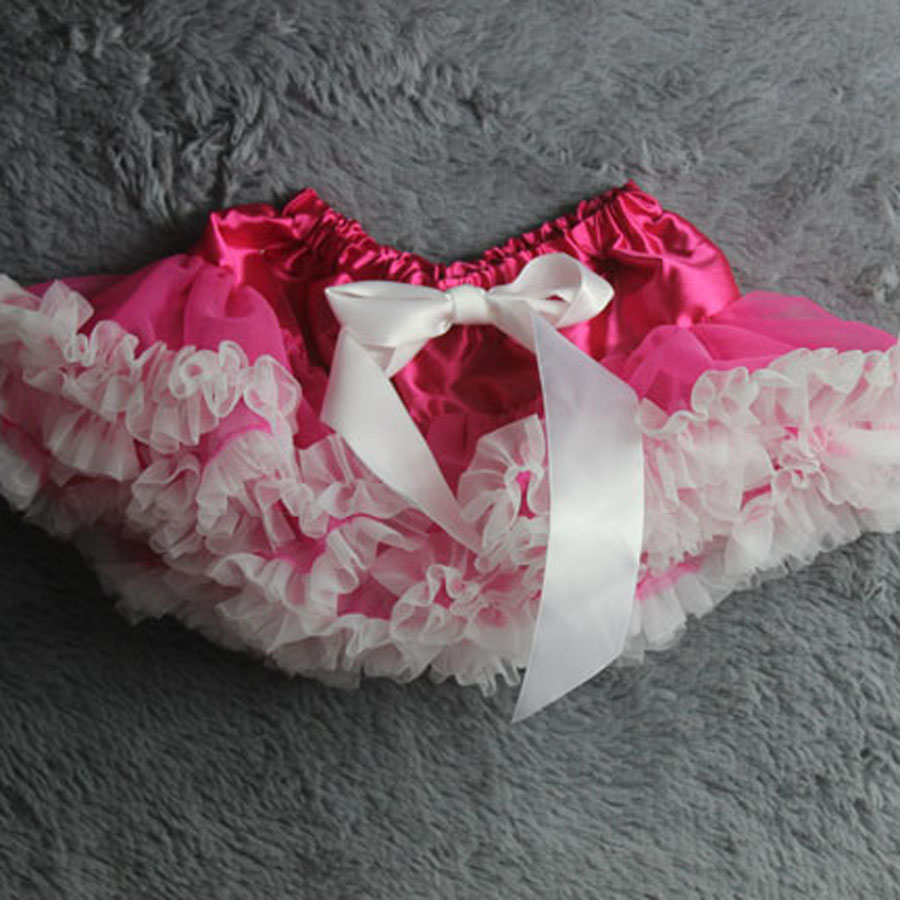 Юбка-пачка Одежда для маленьких девочек; нарядная одежда; юбка-пачка балетная юбка, пачка летняя одежда аксессуары для фотографирования новорожденных, ярко-розовым шифоном