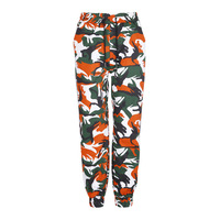 Women 2017 Autumn Red And Pink Camouflage Pants Fashion Street Jean Trousers Pantalon Mujer Pencil Demin