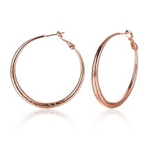 405d44c1d AliExpress Hot Sale plated rose gold hoop earrings 4.1 x 4.1cm Cool Party  Style High Quality Christmas Gifts E095-in Hoop Earrings from Jewelry ...