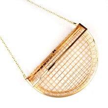 Fashion Luxury Handbags Women Bags Designer Hardware Half Month Hollow Box Chain Prom Evening Bag Clutch Female  Shoulder