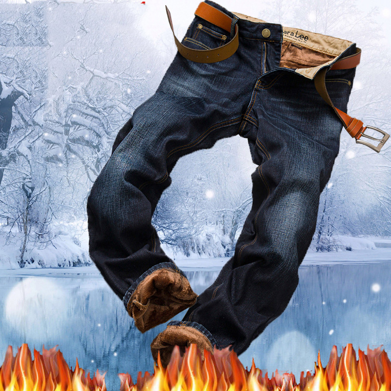 Winter Thicken Flannel Men Jeans Pants 2017 Fashion Classic Skinny Casual Men Jean Homme Warm Slim Fit Men Pencil Denim Pants men s cowboy jeans fashion blue jeans pant men plus sizes regular slim fit denim jean pants male high quality brand jeans