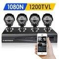 Defeway 4ch 1200tvl 720 p hd sistema de câmera de segurança em casa ao ar livre 1080n hdmi dvr ahd câmera de cctv kit de vigilância por vídeo conjunto