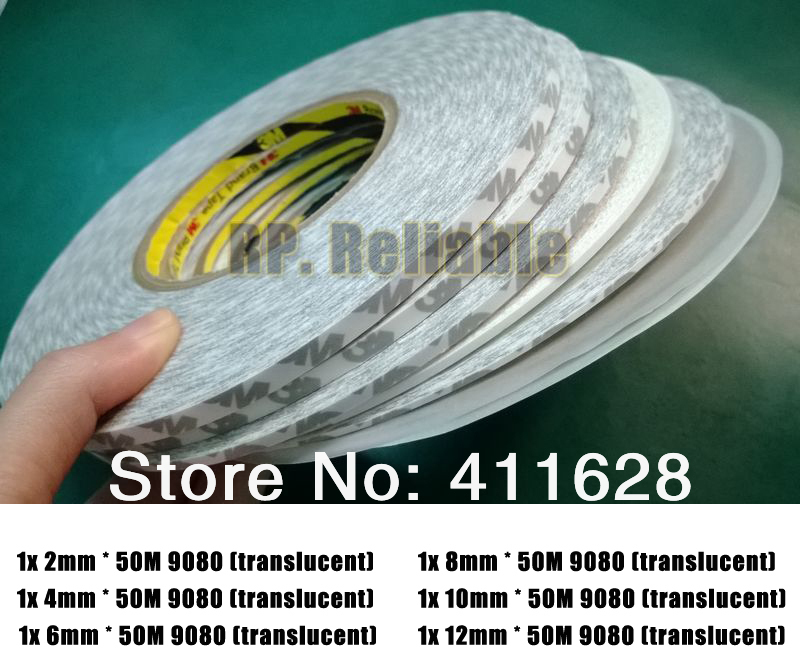 6x 2mm/4mm/6mm/8mm/10mm/12mm 3M9080 Double Sided Adhesive Tape for Mobilephone, Tablet,  Electronics LCD, Panel, Screen Glass 1pcs 18mm x 5mm single sided self adhesive shockproof sponge foam tape 3 meters