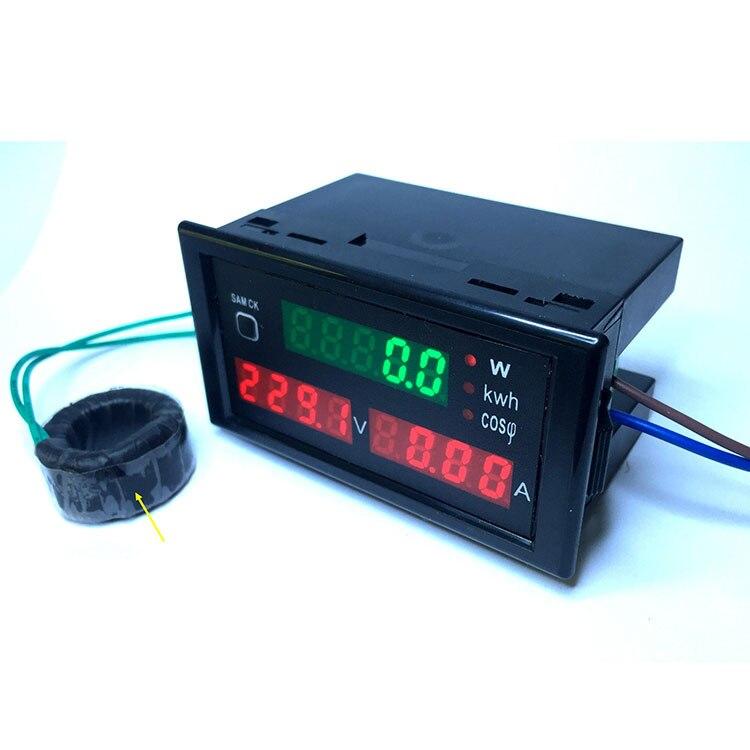 AC 200-450V 0-100A multi-function digital meter with red led display power voltmeter ammeter