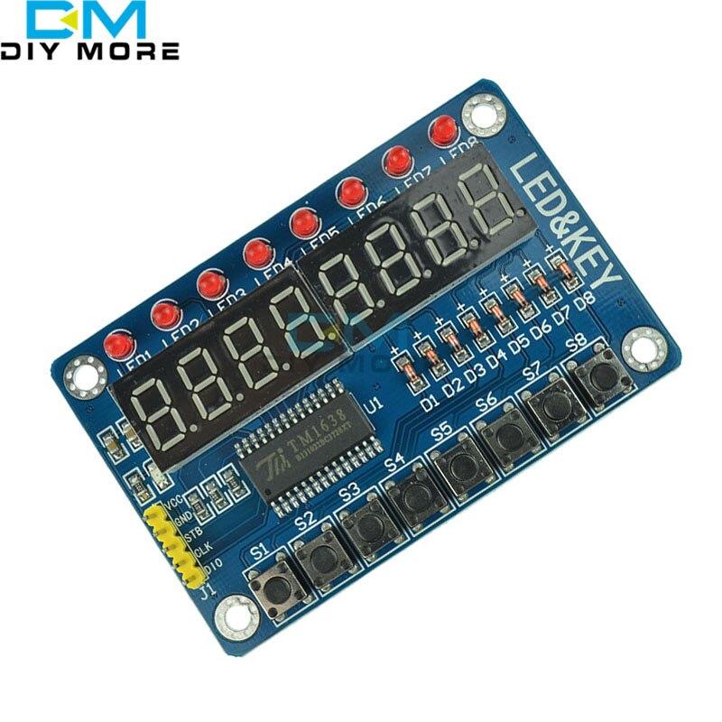 8-Bit LED 8-Bit Digital Tube 8 KeyS TM1638 Display module for AVR For Arduino ARM