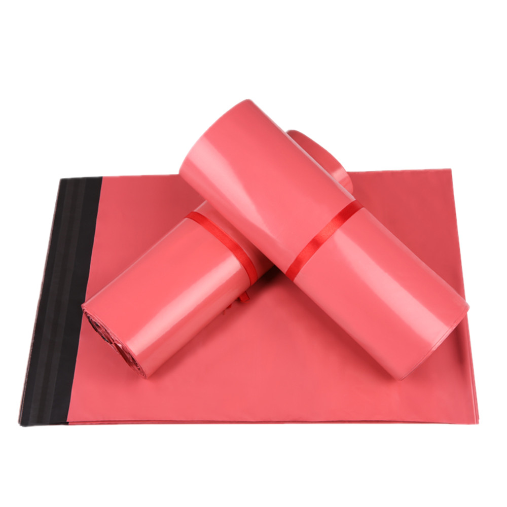 ⊹DHL 500Pcs/Lot Plastic Poly Mail Party Pouch Pink Color Various ...