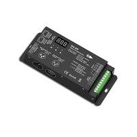 4 채널 dmx512 디코더 led 컨트롤러 dc12 36 v pwm 디머 드라이버 (xlr3 및 rj45 dmx 디코더 무대 효과 dj 컨트롤러 포함)