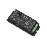4 canal DMX512 Decodificador Levou Controlador DC12 36V PWM Dimmer Motorista com XLR3 e RJ45 Decodificador DMX efeito de Estágio controlador DJ