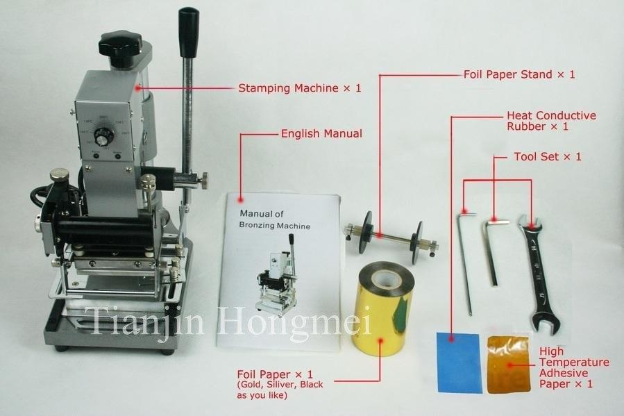 Aukštos kokybės! 220 V / 110 V rankinis aukso karšto folijos štampavimo aparatas, savivartės mašina, kortelių savivarčiai, PVC kortelė + 2FREE FOIL PAPER