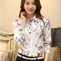2016 new fashion Chiffon Blouse blusas y camisas mujer women's blouses Slim Women clothing Office Work Wear Tops Femme Plus Size