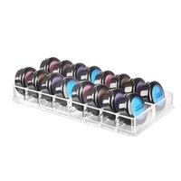 New 16 Grids Makeup Organizador Clear Acrylic Brush Lipstick Holder Makeup Organizer Cosmetic Makeup Tools Storage Box Case