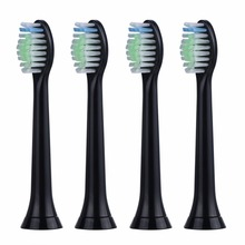 4pcs Replacement Toothbrush Heads For Philips Sonicare DiamondClean HydroClean Black HX6064 Electric Tooth Brush