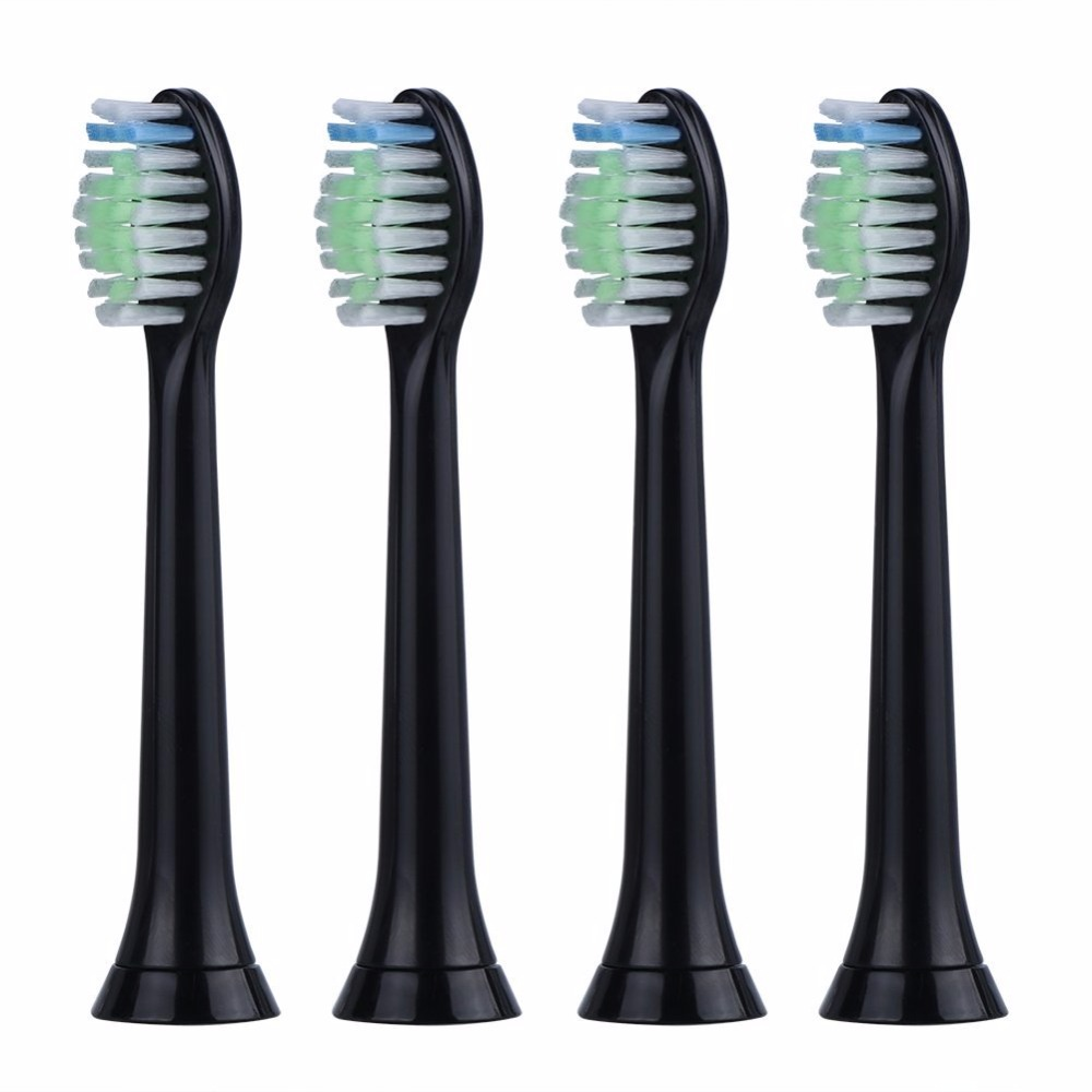 4pcs/lot Replacement Toothbrush Heads For Philips Sonicare DiamondClean HydroClean Black HX6064 Electric Tooth Brush Heads цена