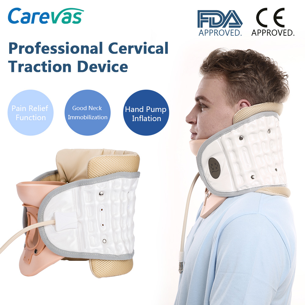Carevas Cervical Neck Traction Device Inflatble Air Traction Therapy Pain Relief Neck Brace Support CE & FDA Approved new household cervical collar neck brace air traction therapy device relax pain relief neck support fixture neck traction brace