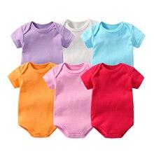 La MaxZa 6pcs/lot Bodysuit Newborn Baby Jumpsuit Ropa Bebe