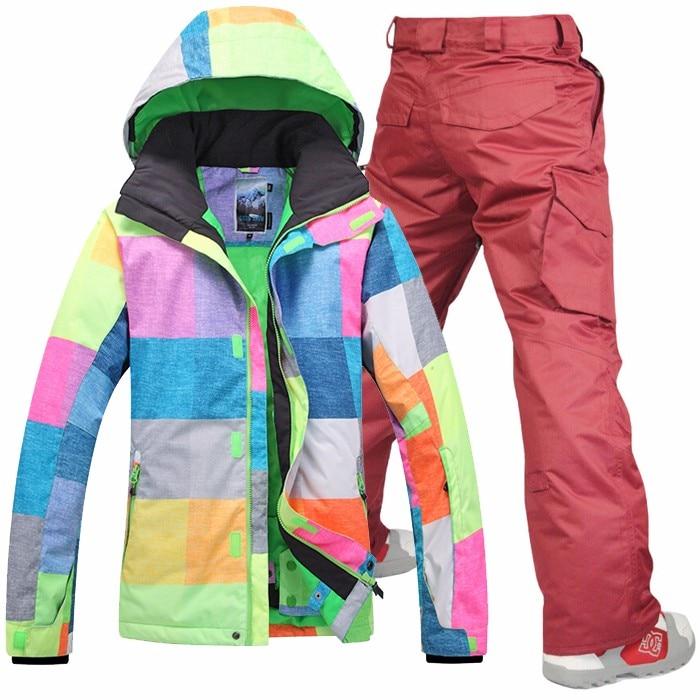 Prix pour Gsou Snow Ski de Neige EN PLEIN AIR Vêtements thermique porter Hommes Ensembles de Costume de Sport Vestes + Pantalon De Ski imperméable Snowboard Ski Veste