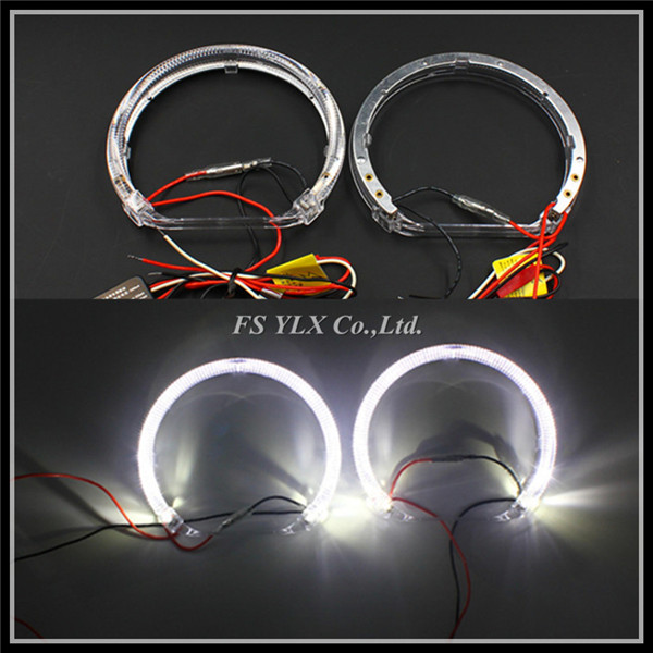 For BMW E38 E36 E39 E46 projector LED angel eyes rings 131mm Canbus CRE SMD Car LED DRL halo rings LED angel eyes for BMW E46 car styling 131mm 4 led cob angel eyes halo rings kit for bmw e46 e39 e38 e36 3 5 7 series daytime runing lights drl retrofit