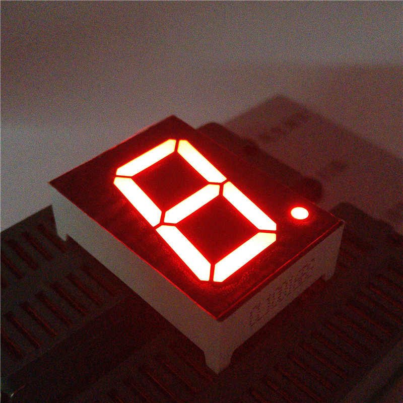 10PCS New  1 Bit 0.8 Inch Digital Tube LED Display  Red   Light 7 Segment Common Cathode/Anode 10PIN