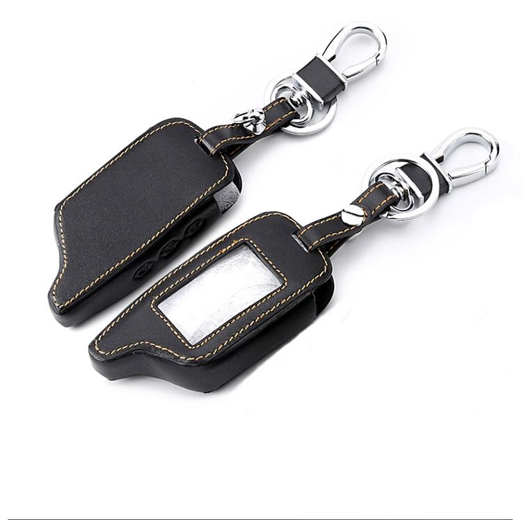 Keychain Cover For Original Starline B9 B91 B6 B61 A91 A61 V7 C9 Leather Key Case LCD Car Remote 2 Way Alarm New