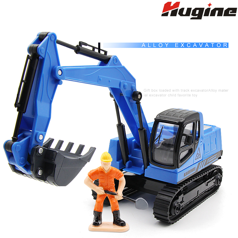 Alloy Crawler Excavator Truck Engineering Car Model Alloy KDW Simulation Children's Toy Car Kids Gift Collection Decoration Toys