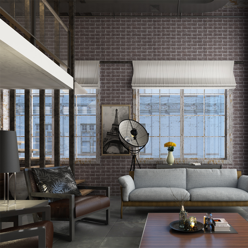 Hanmero good price 3d effect black brick wallpaper fashion for 3d effect wallpaper for home