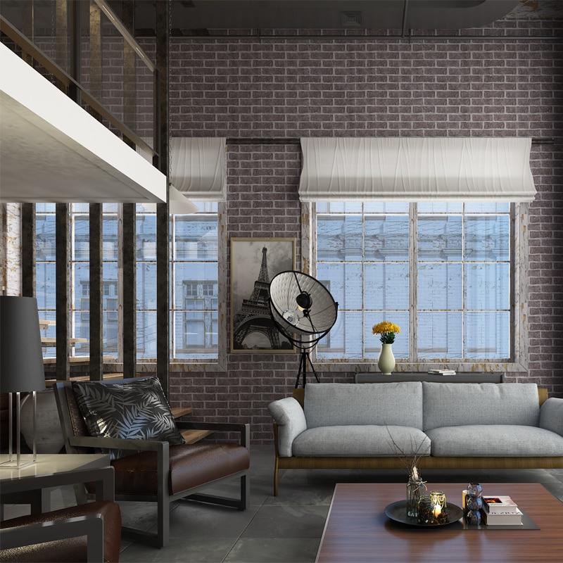 HANMERO Good Price 3D Effect Black Brick Wallpaper Fashion Home Decorative Wallpaper Living Room ...