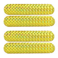 X Autohaux 2 Pairs Self Adhesive Plastic Car Reflective Sticker Reflector Decor Yellow
