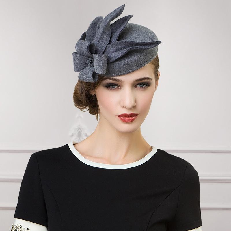 2018 New Winter Wool Hats For Women Ladies Dance Elegance -5281