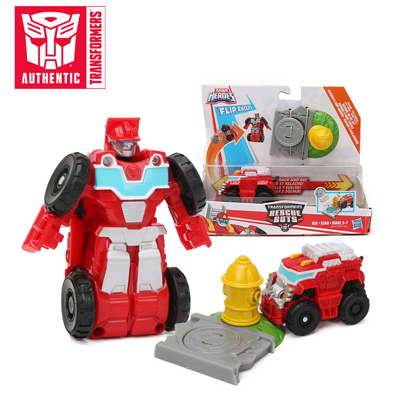 8cm Playskool Heroes Transformers Toys Rescue Bots Flip Racers Heatwave The Fire Bot Airport Blastoff Blades Action Figure Aliexpress