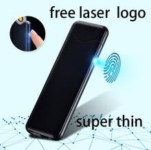 USB öngyújtó elektronikus turbófeltöltő újratölthető WilndProof Plazma öngyújtó cigarettagyújtó Dohányzáshoz Ingyenes lézeres lézer