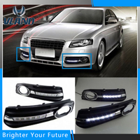2pcs Daytime Running Lights DRL With Fog Lamp DRL for Audi A4L B8 2009 2010 2011 2012