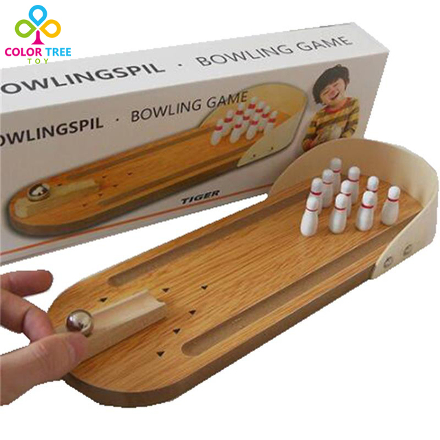 3e09c6e84b2da9 Mini Bowling Game Indoor Sports Toy Kids Wooden Toys Bowlingspil Learning  Educational Toys Gifts For Children