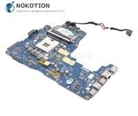 NOKOTION Para Toshiba Satellite P755 P750 A665 A660 LA 6832P PHQAA Laptop Motherboard REV: 2.0 PLACA PRINCIPAL HM65 DDR3 Placa-mãe para notebook     -