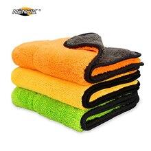 3-5 PCS Formato 30*30 CM Lavaggio Auto Cera Polacco Detailing Asciugamano In Microfibra Super Assorbente Auto Vernice di Pulizia di cura di Secchezza del Panno Orlare