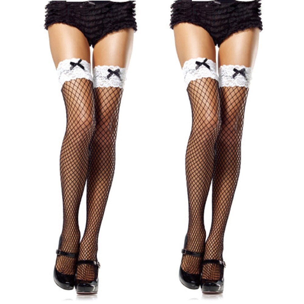 Buy Sunfree Hot Selling Sexy Lady Tights Women Fishnet Charming Pantyhose Mesh Solid Bow Stocking Glossy Vintage Tights 3L&45